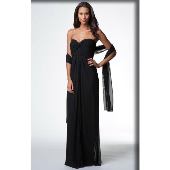 Tadashi Shoji Dresses | T By Tadashi Strapless Black Evening Dress ...